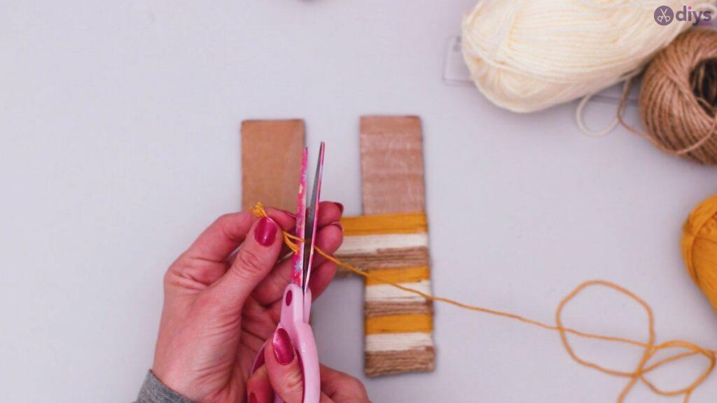 Diy yarn letter step by step craft (35)