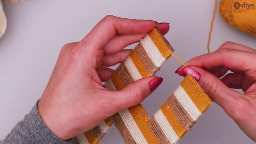 Diy yarn letter step by step craft (38)