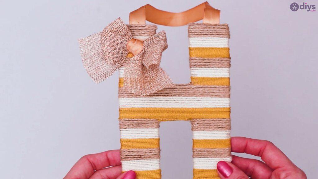 Diy yarn letter step by step craft (53)