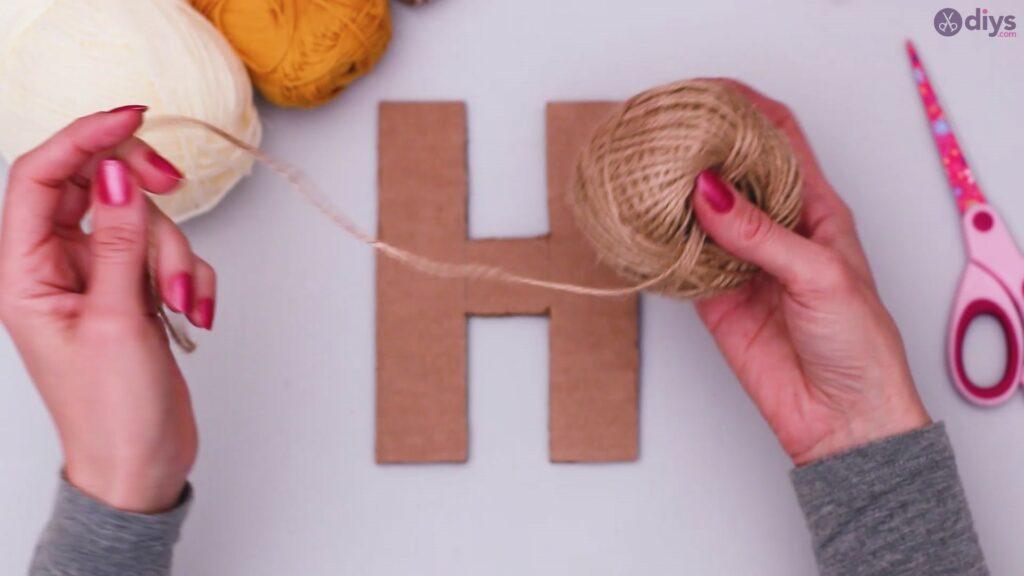 Diy yarn letter step by step craft (9)