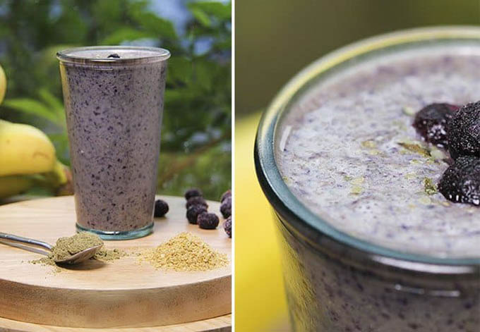 Hemp protein power smoothie