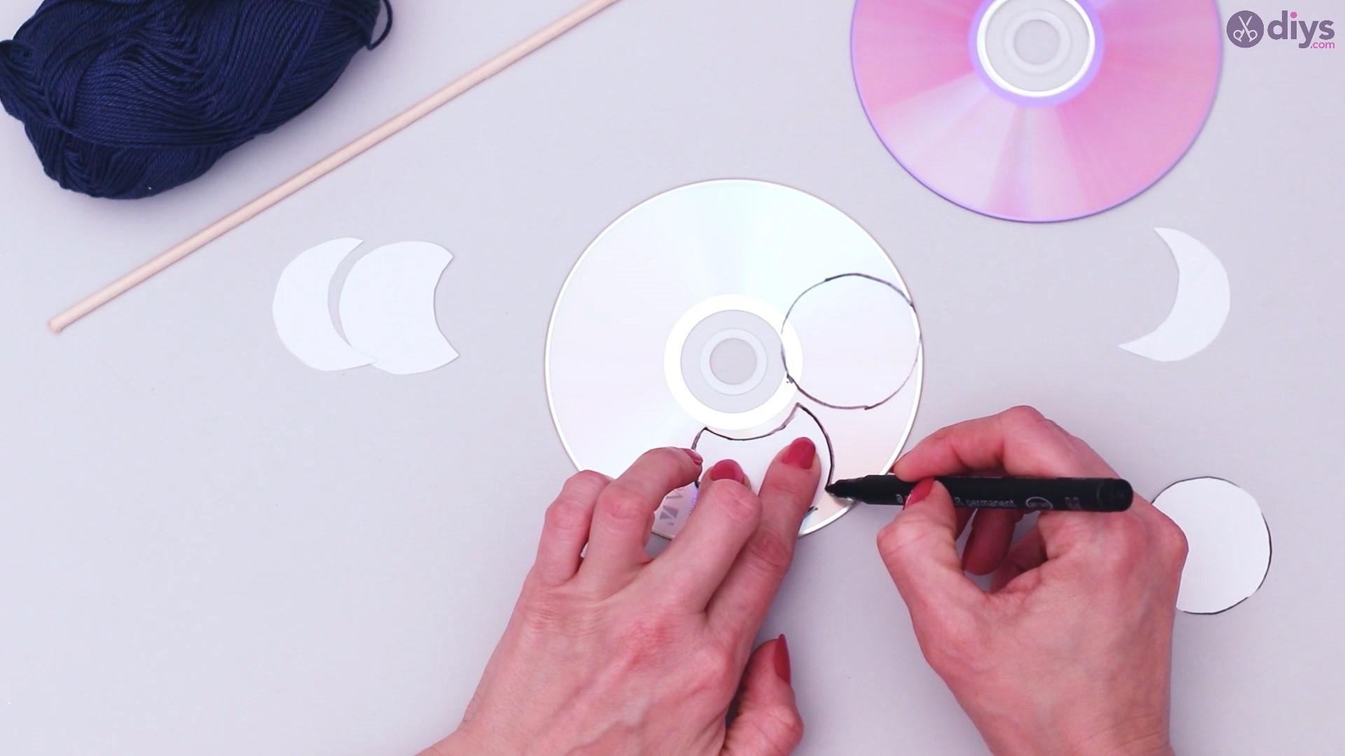 Lunar eclipse cd wall hanging (4)