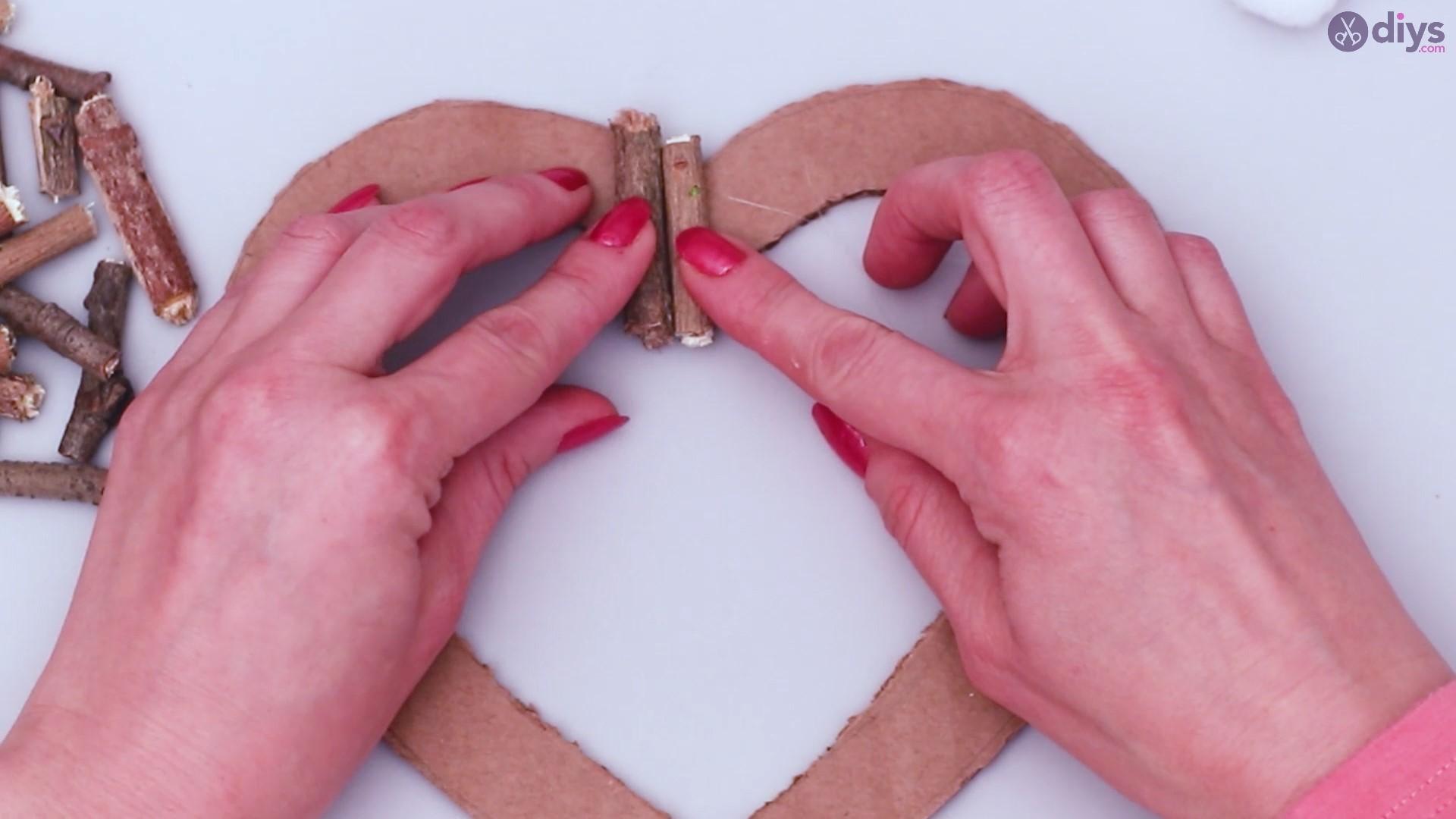 Rustic twig heart wall art (12)