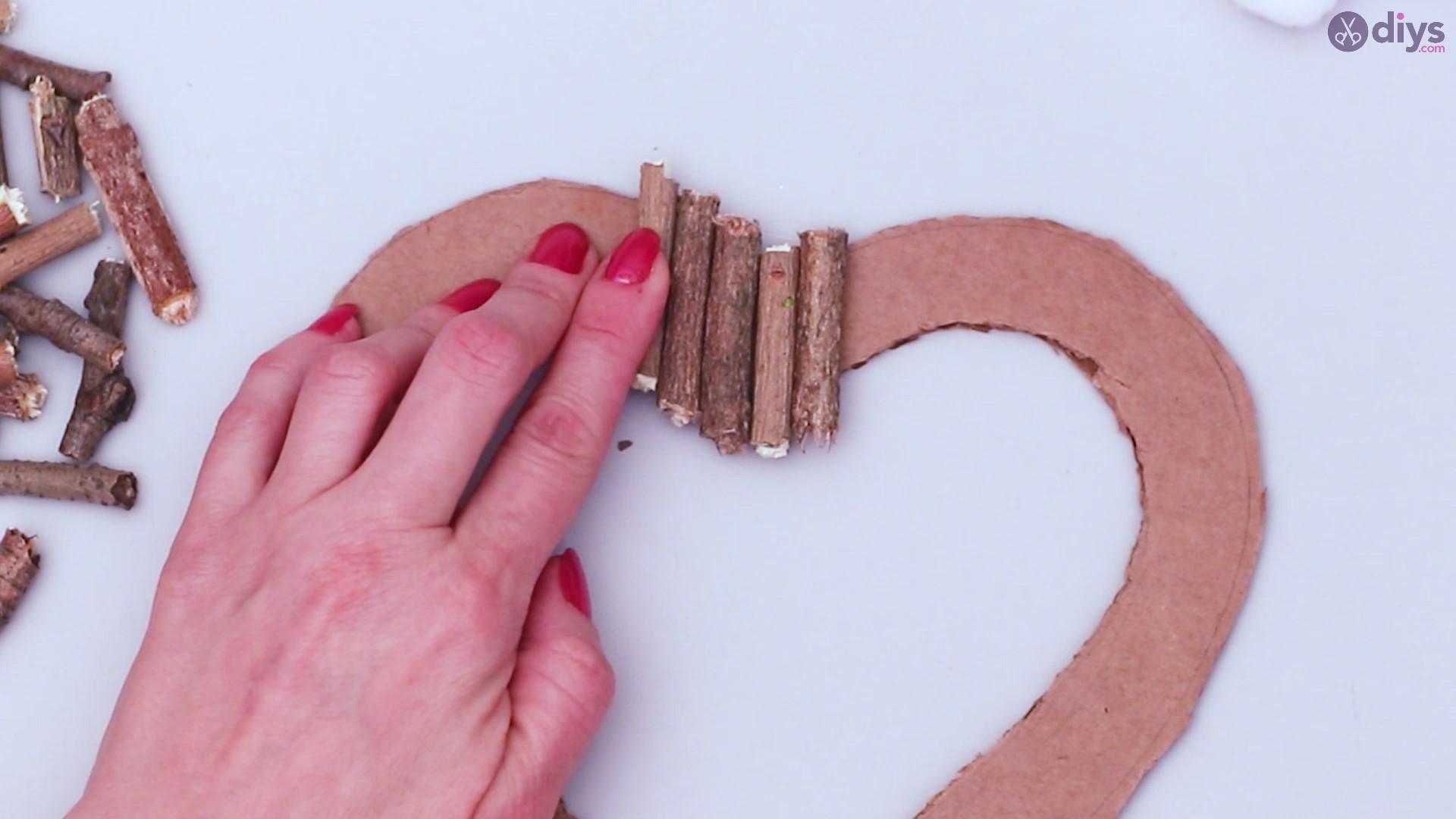 Rustic twig heart wall art (19)