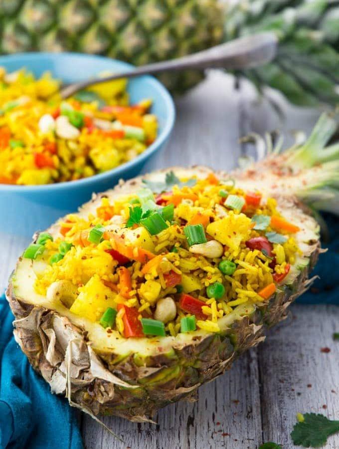 Thai pineapple fried rice recipe vegan