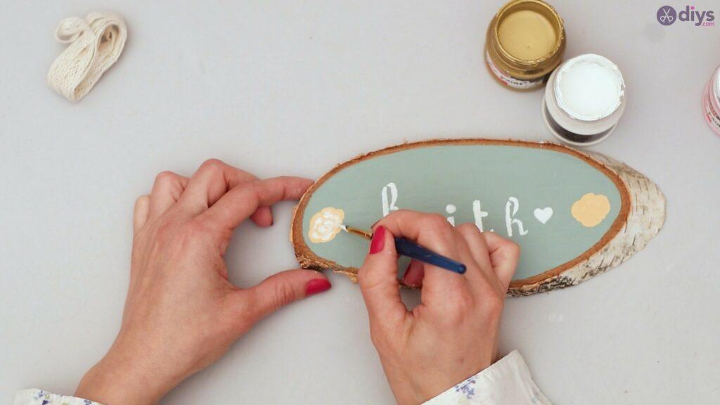 Wooden slice wall art (13)