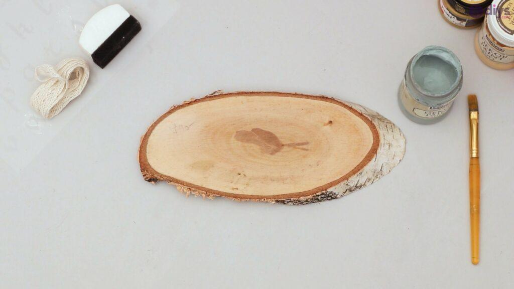 Wooden slice wall art (2)