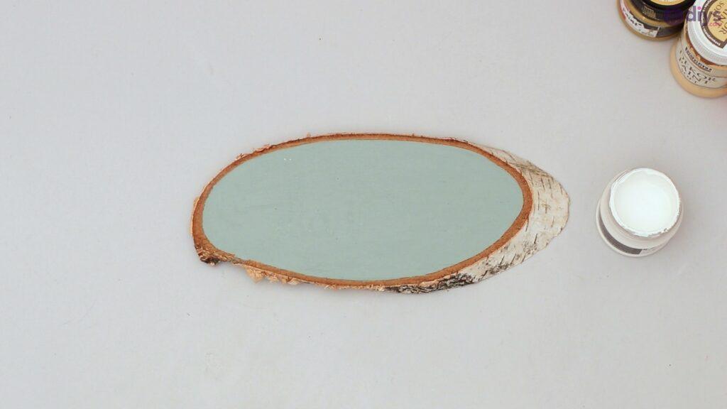 Wooden slice wall art (5)
