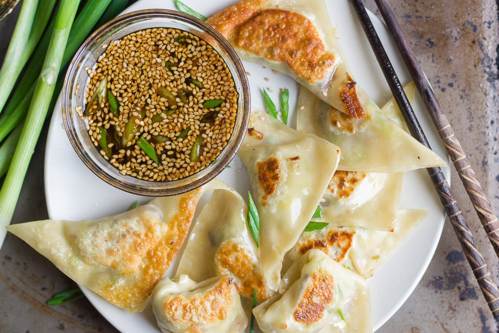 Gingered brussels sprout and shiitake pot stickers 2