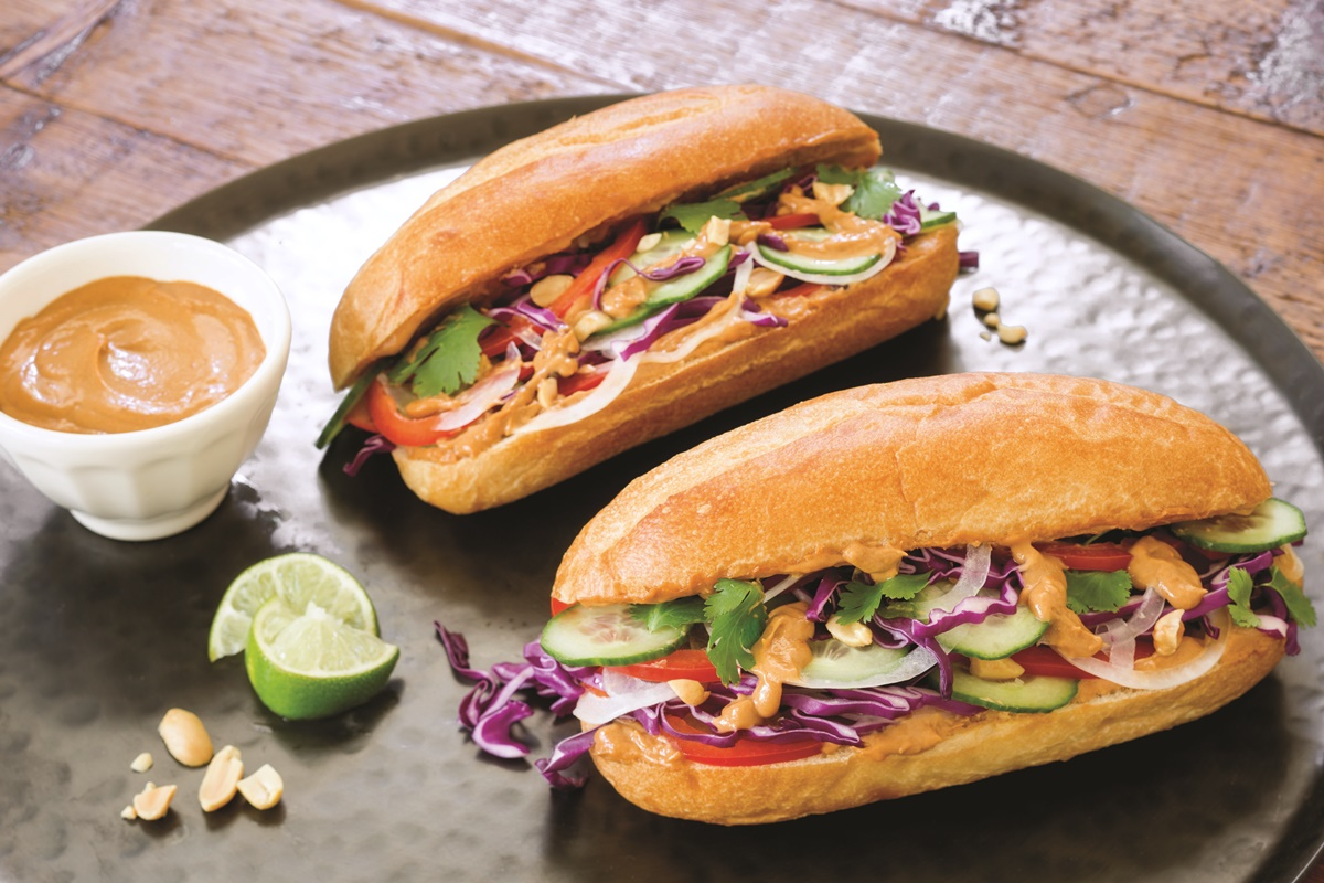 Thai peaut veggie sandwiches recipe