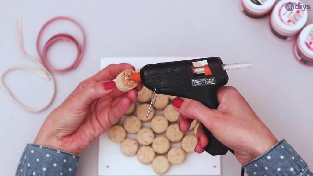 Wine cork heart wall hanging (12)