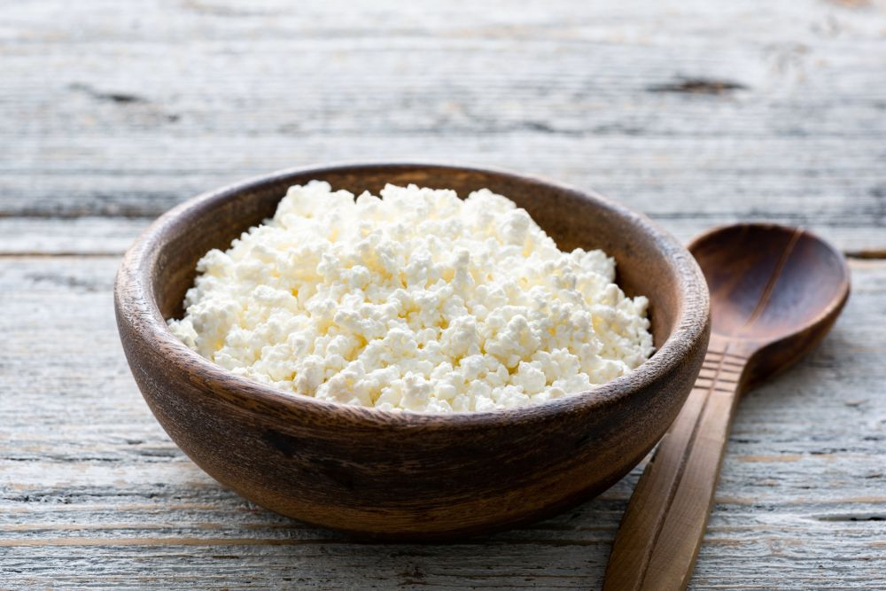 Defrost cottage cheese