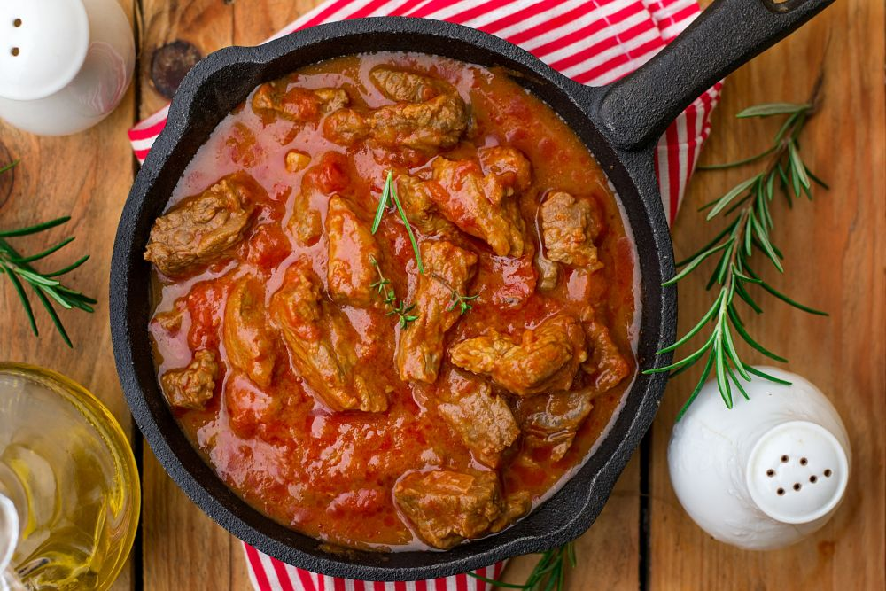 Stews and soups with frozen tomatoes