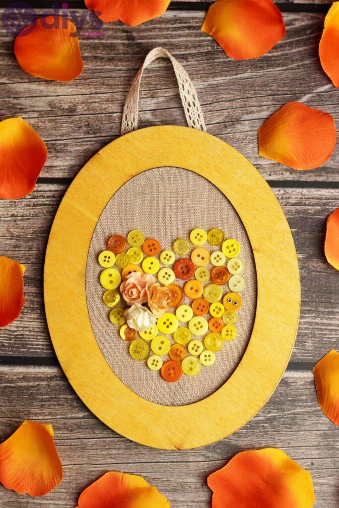 Button heart wall art photos (1)