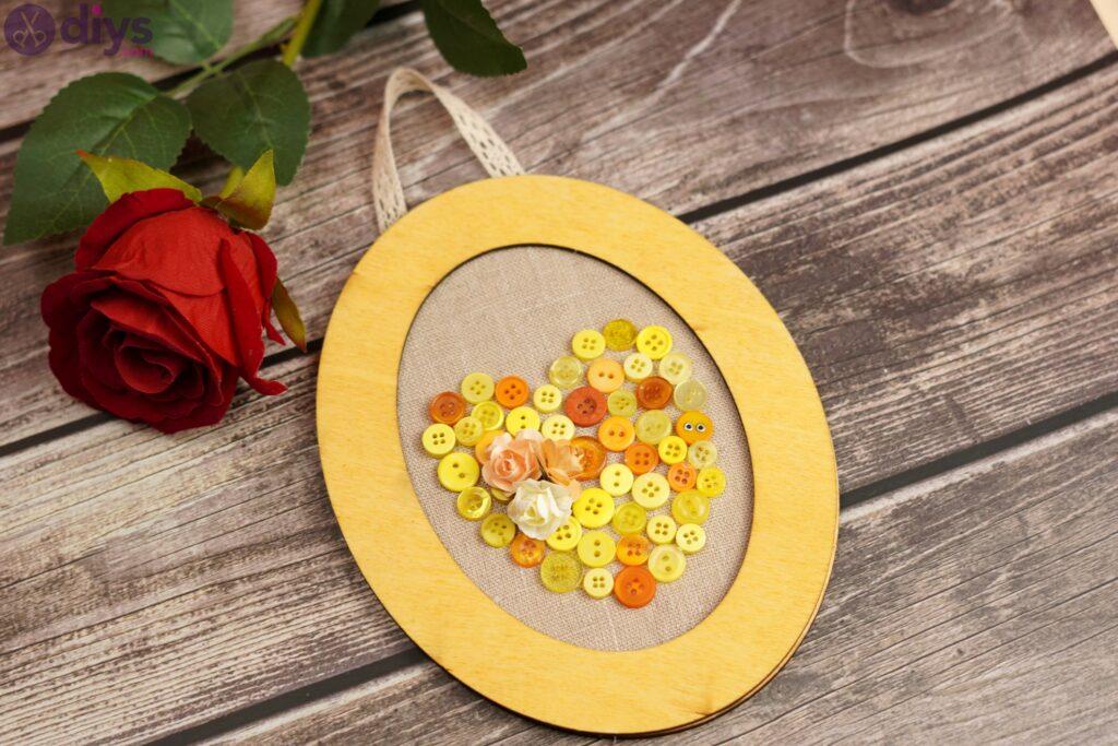 Button heart wall art photos (4)