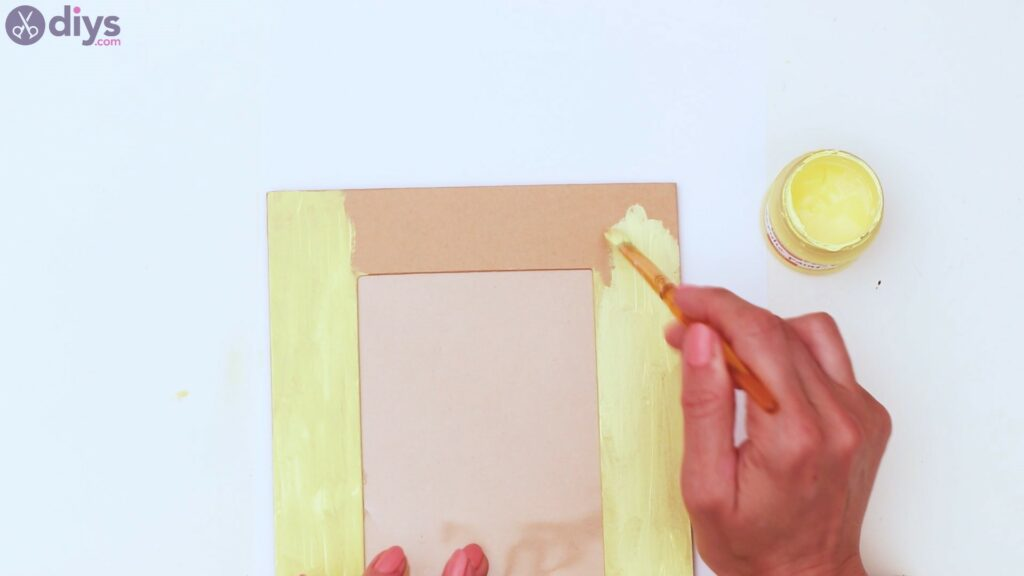Button picture frame steps (3)
