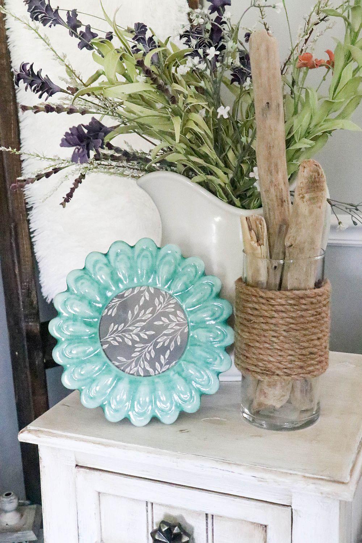DIY dollar tree rope vase