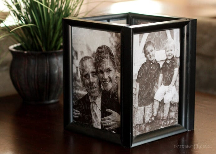 DIY picture frame luminaries