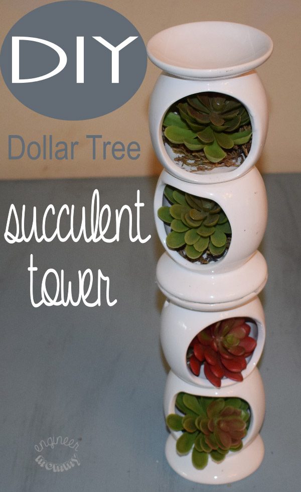 Diy succulent tower from dollar store materials