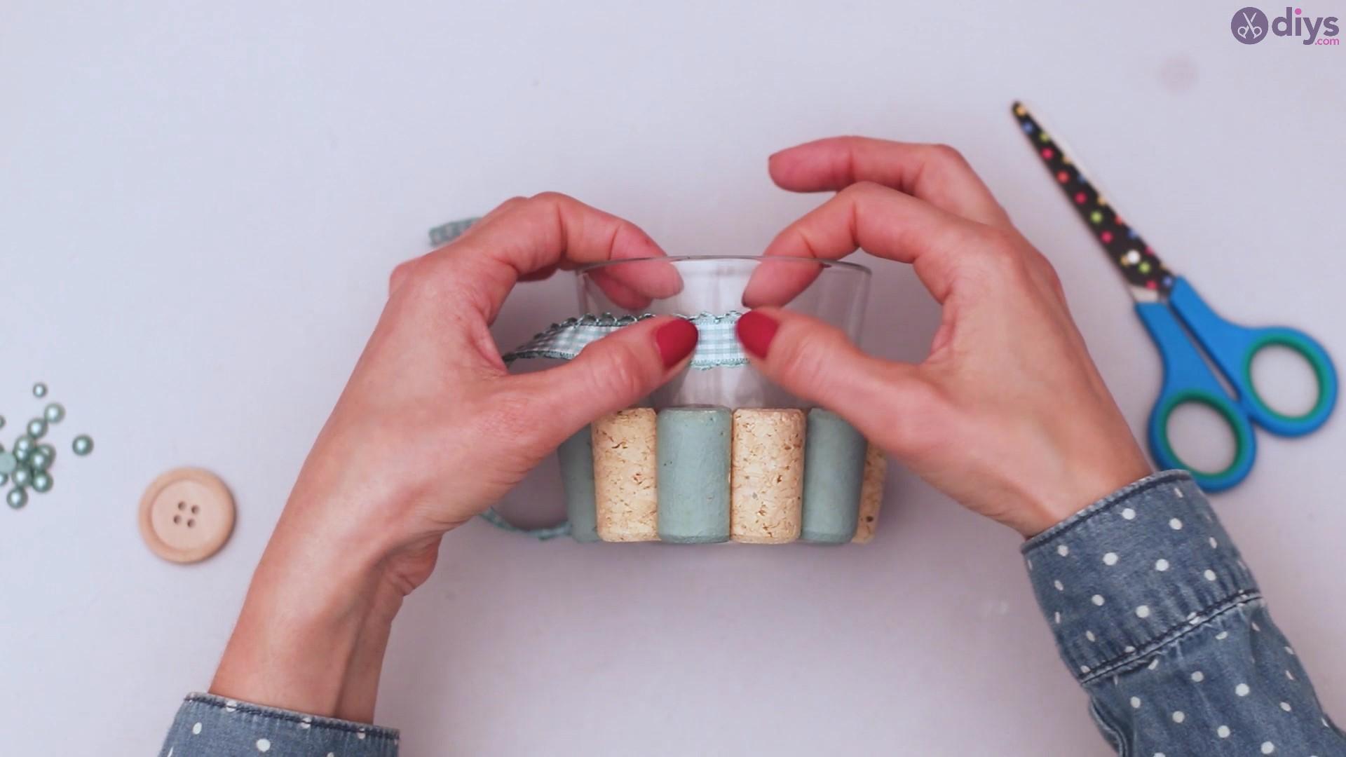 Diy wine cork candle holder (18)