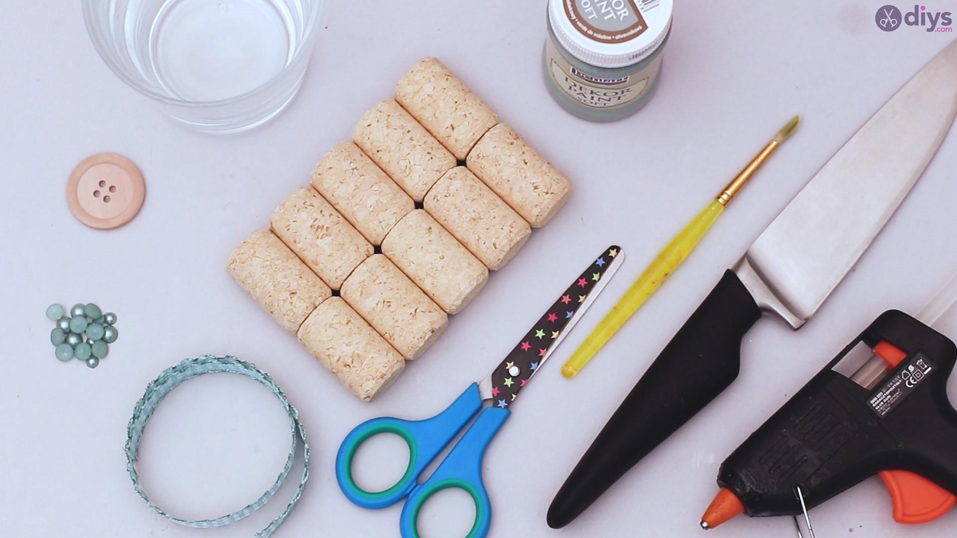 Diy wine cork candle holder materials