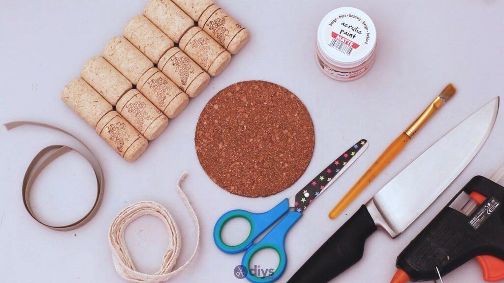 Diy wine cork coaster materials