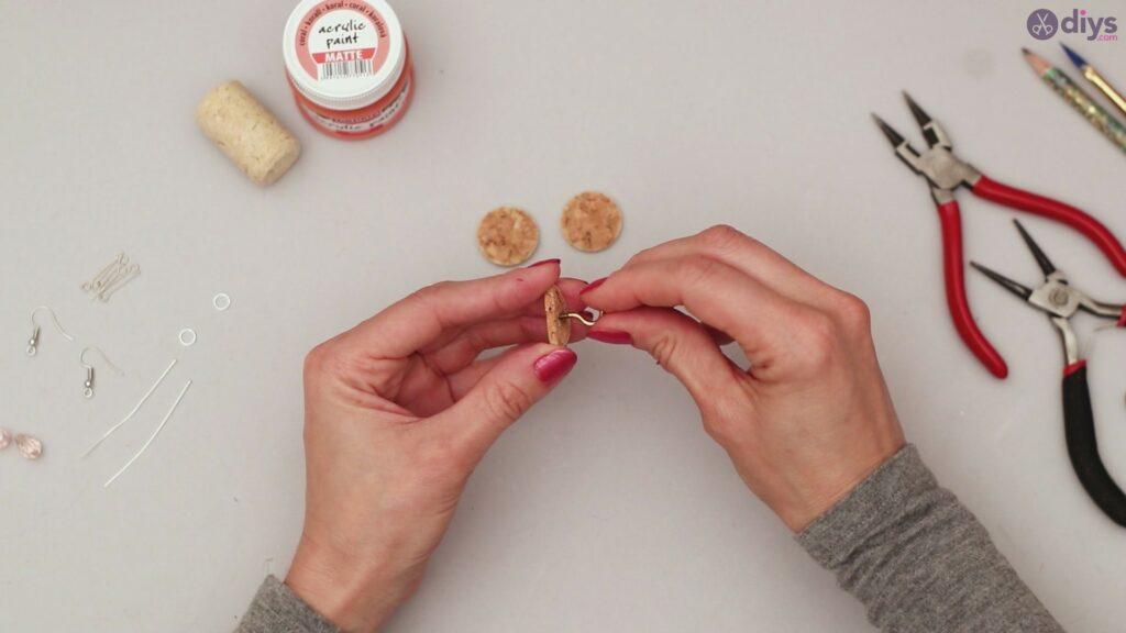 Diy wine cork earring (7)