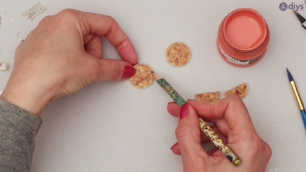 Diy wine cork earring (8)