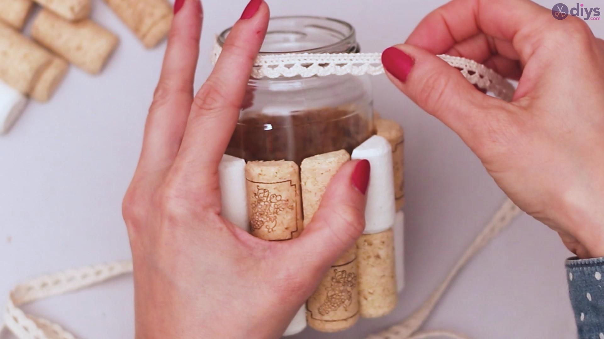 Diy wine cork flower vase (18)