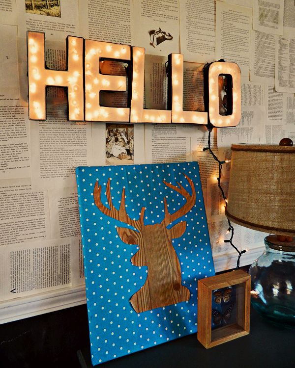 Dolalr Store Inspired - DIY Lighted Letters Sign