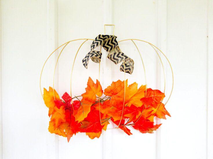 Dollar tree - Pumpkin Wreath-Fall Wreath