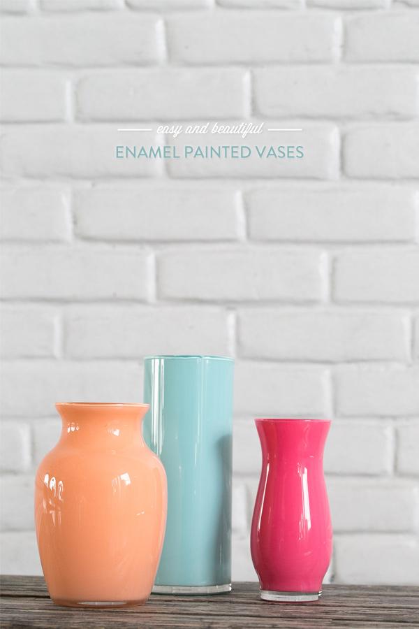 Enamel painted vases ideas