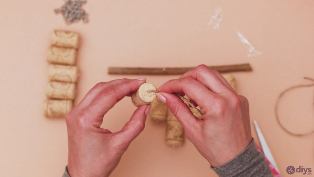 Hanging wine corks (9)