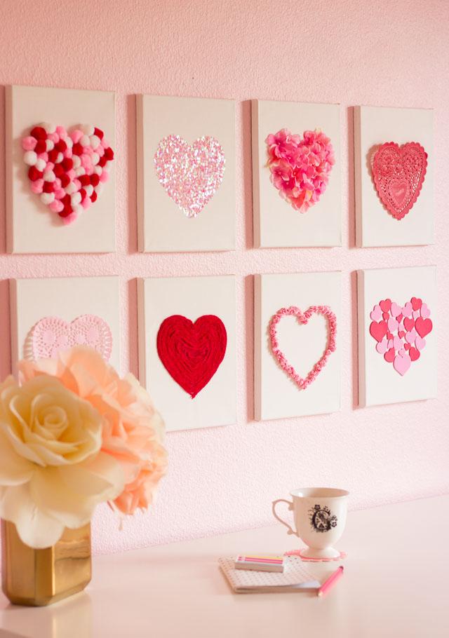 Heart canvas wall