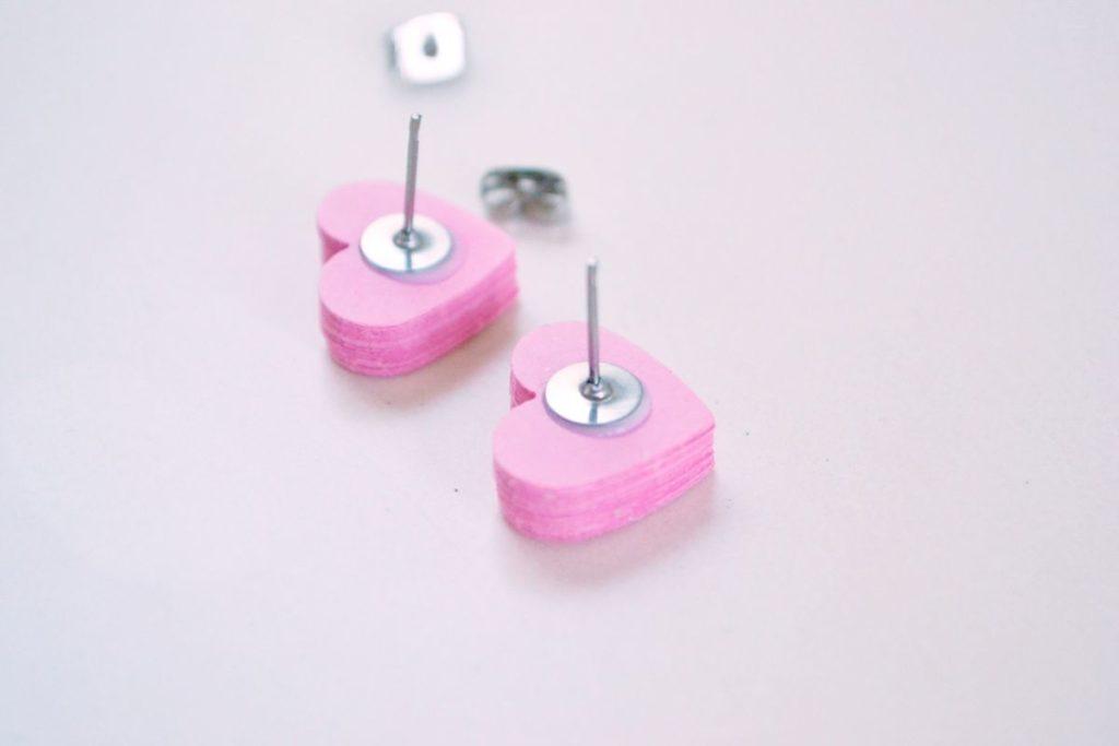 Heart paper earrings