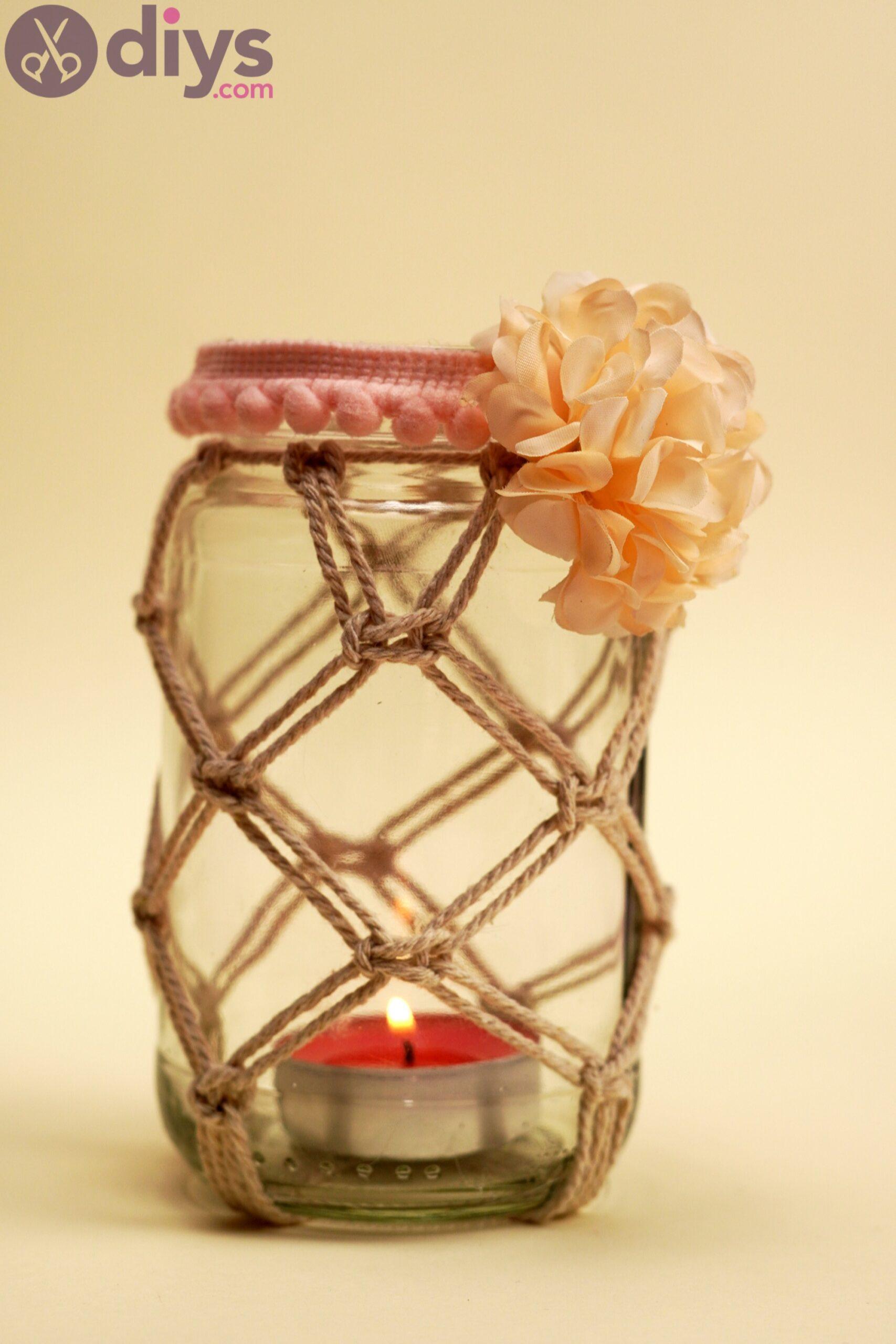 Macrame wrapped mason jar pics (8)
