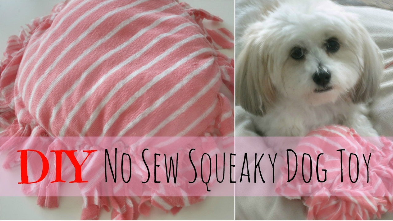 No sew squeaky toy