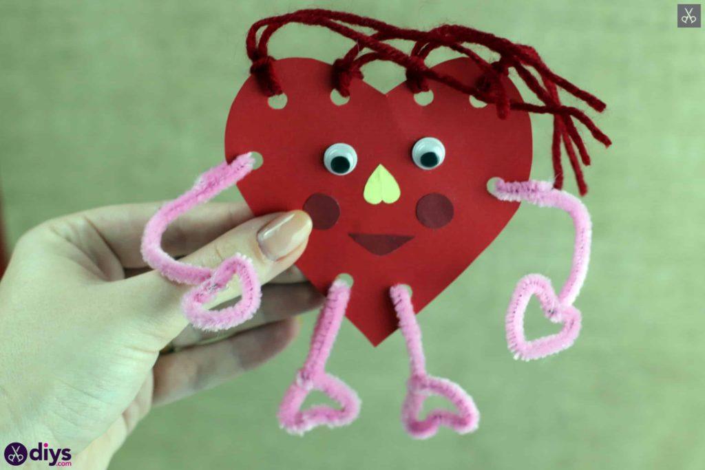 Paper valentine's creature