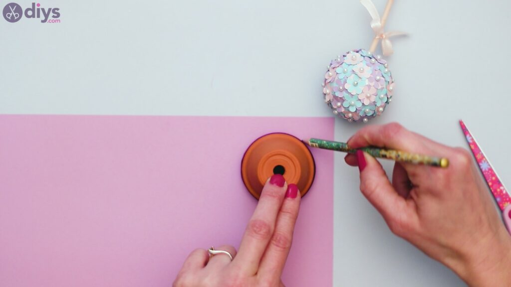 Pretty paper flower ball (24)