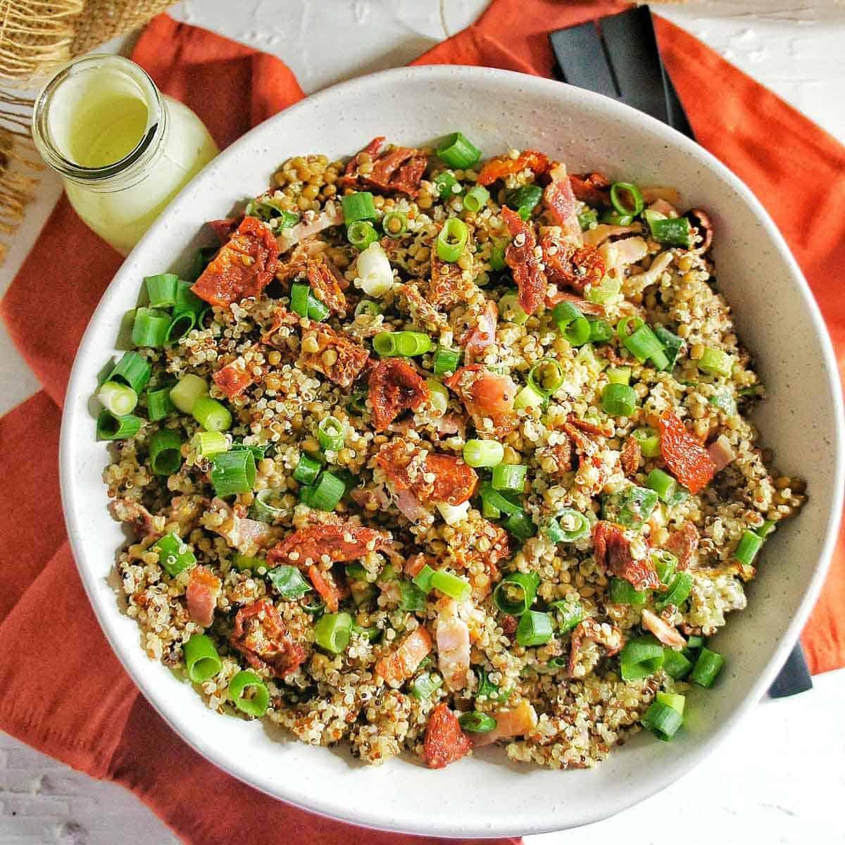 Sun dried tomato quinoa salad