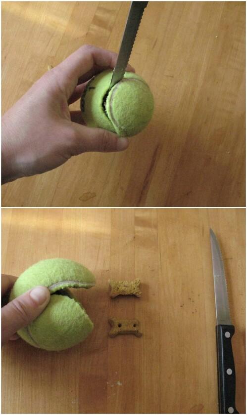 Tennis ball treats