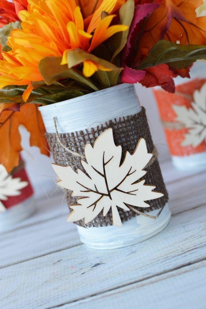 Upcycle Reusable Tin Can Fall Centerpieces