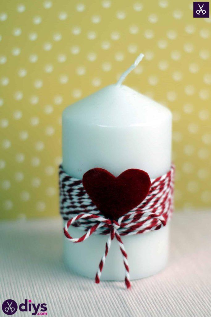 Valentine candle