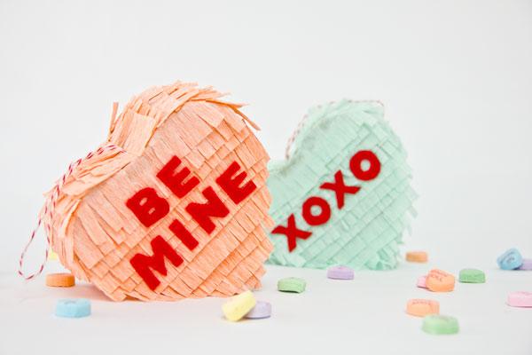 Valentine heart pinatas