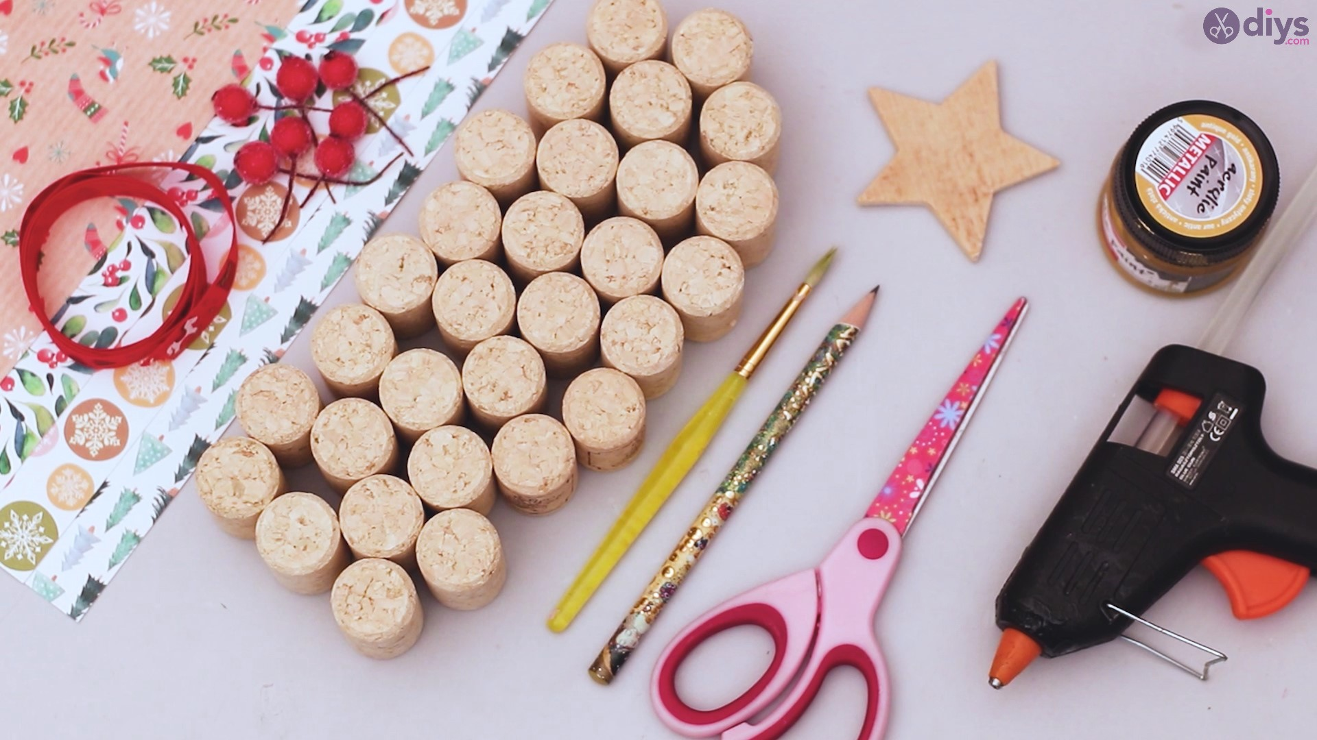 Wine cork christmas tree materials