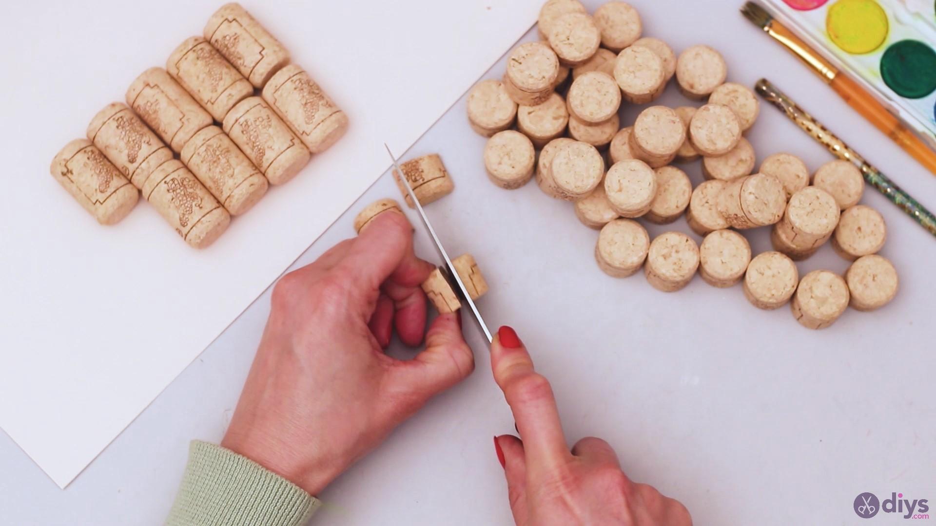 Wine cork wine glass decor (6)