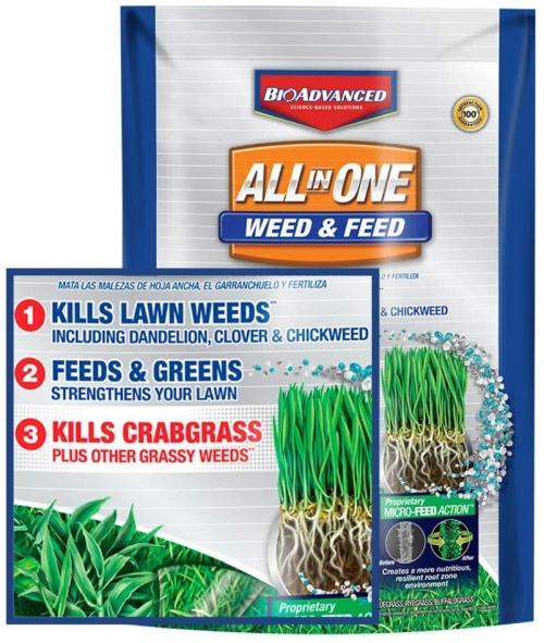 Bioadvanced 100532514 weed & feed crabgrass killer science based solutions lawn fertilizer