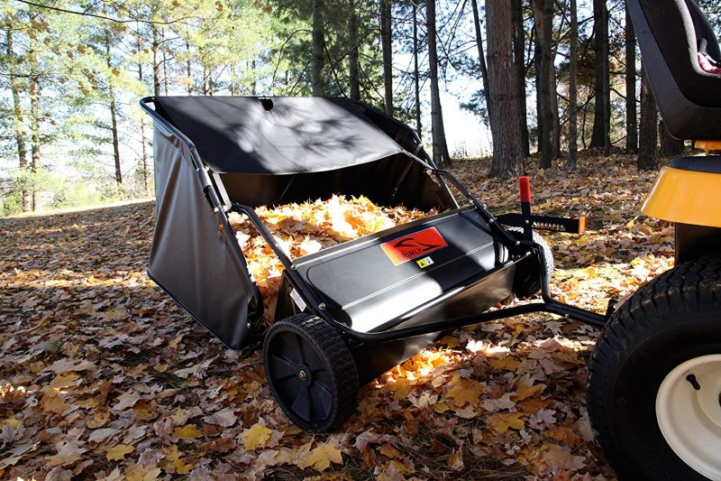 Brinly sts 427lxh 20 cubic feet tow behind lawn sweeper