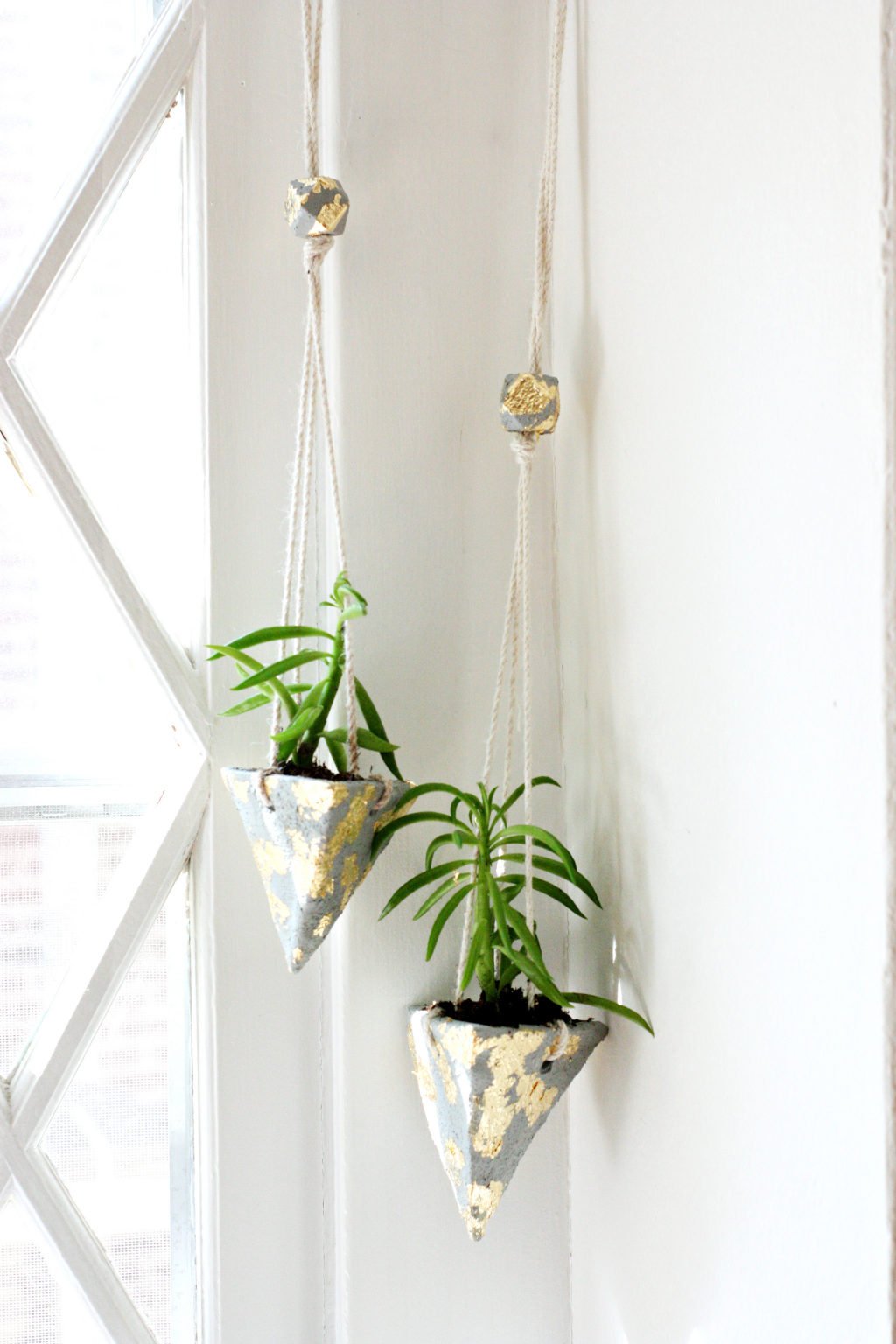 Cement hanging planters