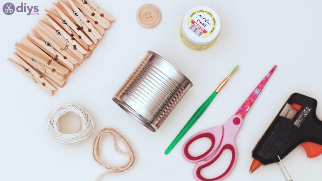 Clothespin pot materials